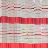 Nadia organza dekor függöny Fehér / piros 140 x 250 cm - HS28447