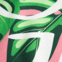 tropical-strand-torolkozo-zold-rozsaszin-mintas-kozeli