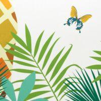 Tropical 07 strandtörölköző