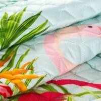 Flamingo mintás ágytakaró