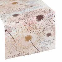Alva bársony asztalterítő Fehér / barna 35 x 180 cm - HS360197