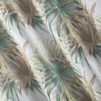 Estell mintás dekor függöny Fehér / kék 140 x 250 cm - HS371306
