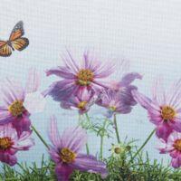 Egidia 4 tavaszi asztalterítő Fehér / rózsaszín 85 x 85 cm - HS95174