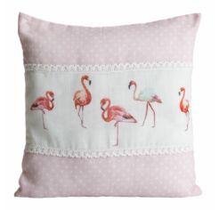 Flamingo csipkés párnahuzat