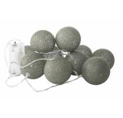 10 gömbös pamutgolyó lámpa