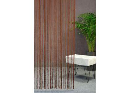 280 egyszínű spagetti függöny Barna 90 x 280 cm - HS25962