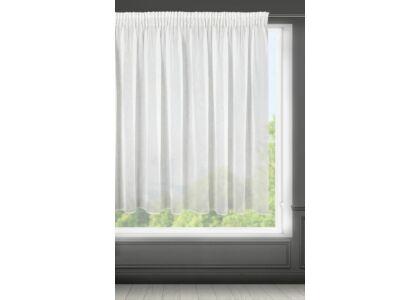Lilian egyszínű fényáteresztő függöny Fehér 400 x 145 cm - HS367470