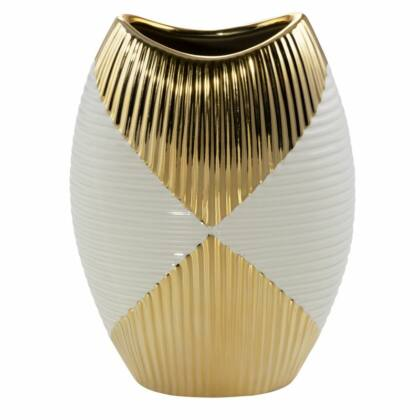 Rakel váza Bézs/arany 18x9x26 cm
