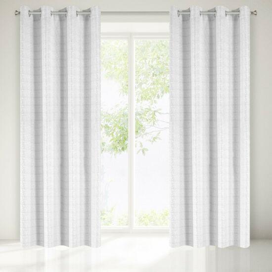 Serena egyszínű sötétítő függöny Fehér/Ezüst 140x250 cm