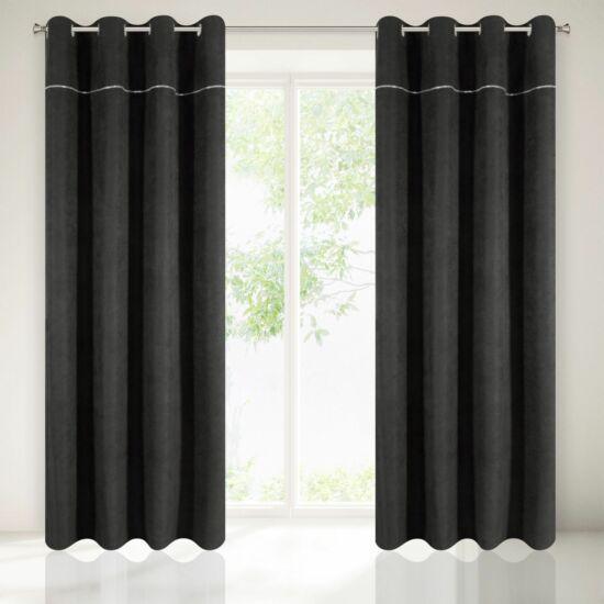 Agis díszes sötétítő függöny Fekete 140 x 250 cm