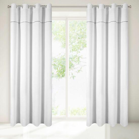 Agis díszes sötétítő függöny Fehér 140 x 250 cm - HS223792