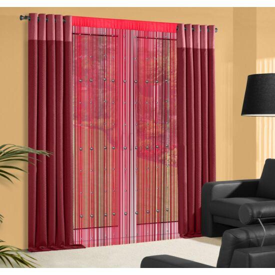 Koralik gyöngyös spagetti függöny Piros 140 x 250 cm - HS25814