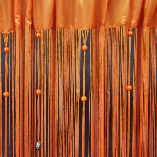 Koralik gyöngyös spagetti függöny Narancssárga 140 x 250 cm - HS25818