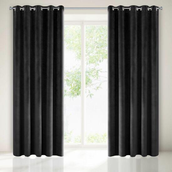 Villa bársony sötétítő függöny Fekete 140 x 250 cm