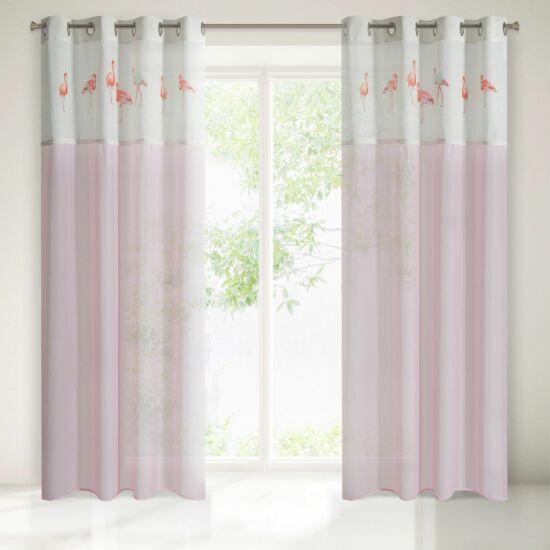 Flamingo csipkés dekor függöny
