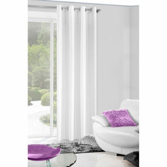 Alena egyszínű sötétítő függöny Fehér 140 x 250 cm