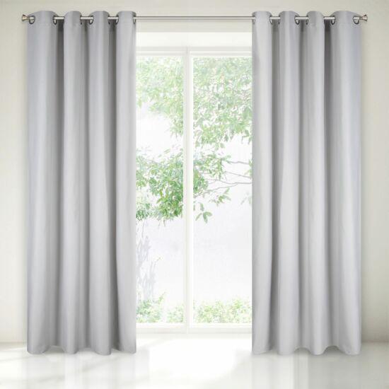 Aggie egyszínű sötétítő függöny Ezüst 140x250 cm