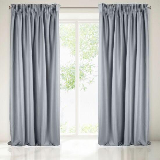 Aggie egyszínű sötétítő függöny Ezüst 140 x 270 cm