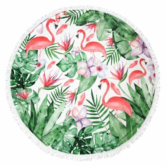 havanna-02-strand-torolkozo-zold-rozsaszin-flamingo-dzsungel-mintas-kiteritett