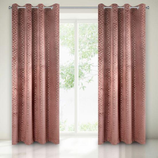 Chiara bársony sötétítő függöny Sötét rózsaszín 140 x 250 cm - HS351605