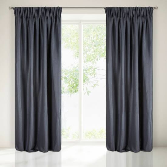 Aggie egyszínű sötétítő függöny Sötétkék 140x270 cm