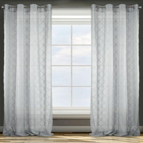 Betsy díszes fényáteresztő függöny Ezüst 140 x 250 cm - HS357561