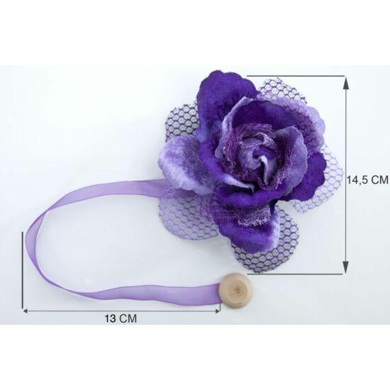 Virág alakú fügöny elkötő mágnes 5 Ibolyalila - HS50510