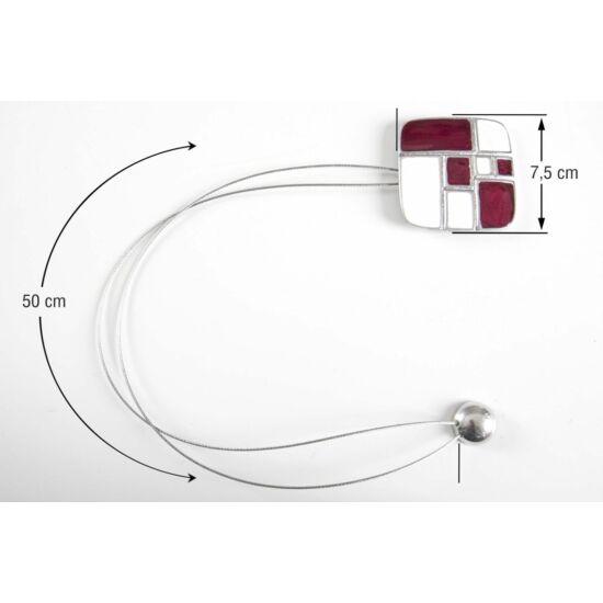 fem-fuggony-elkoto-magnes-feher-bordo-48-cm