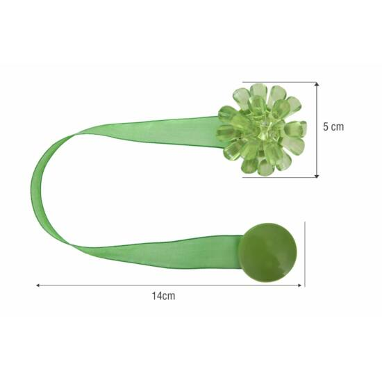 Különleges függöny elkötő mágnes 24 Zöld - HS52327