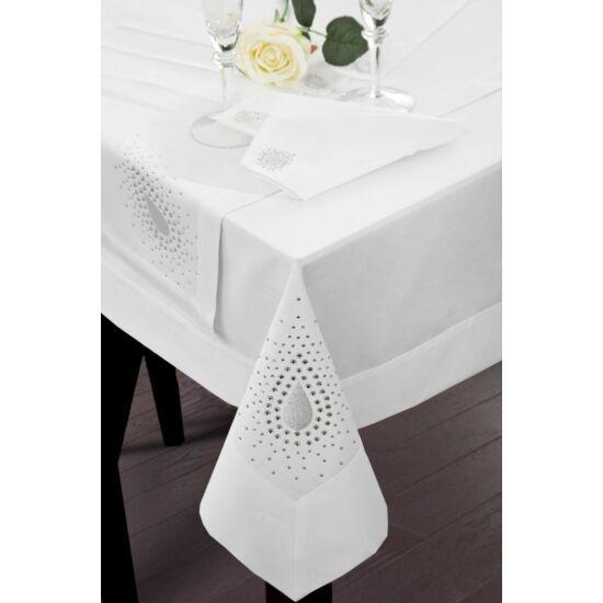 perla-exkluziv-asztalterito-feher-85-x-85-cm-asztalon