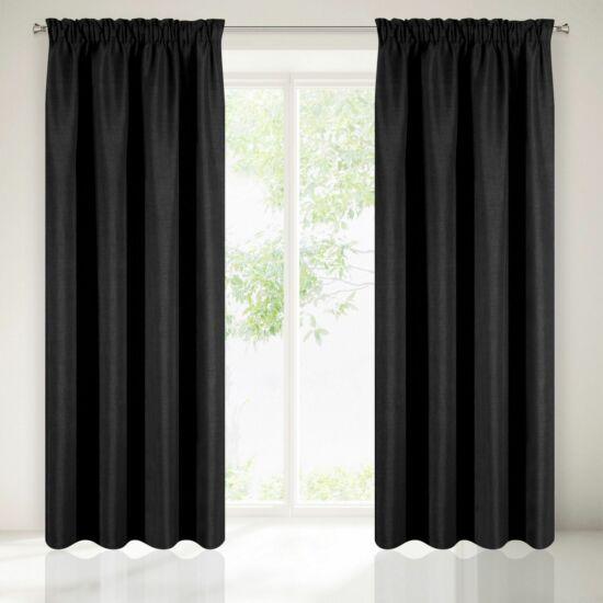 Amelia eco sötétítő függöny Fekete 140 x 270 cm